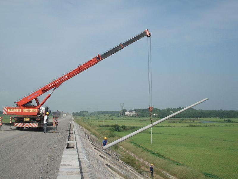 水泥杆安装施工案例