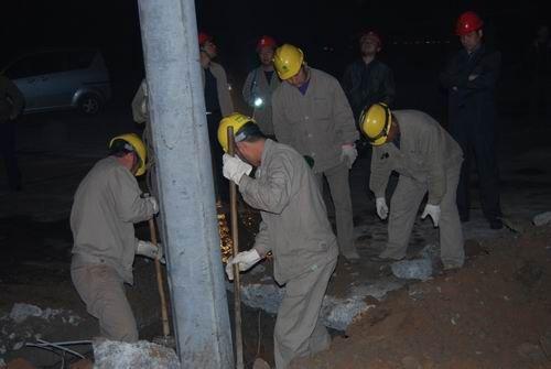 水泥电杆厂家安装施工案例