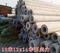 10米水泥电线杆(12x14)