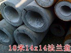 18米法兰盘焊接电线杆14x14